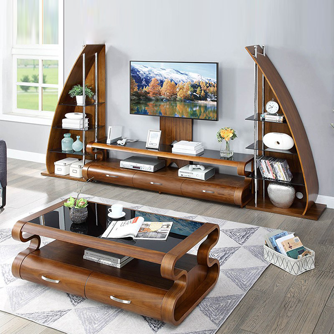 Lift TV Table with Stereo Sound System